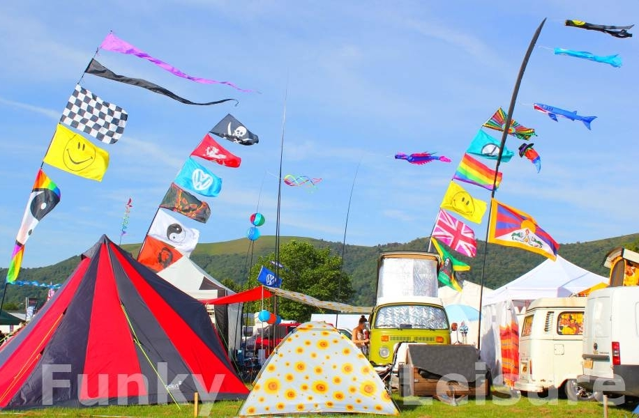 Flags Streamers u0026 Bunting category & Camping at a Festival | Funky Leisureu0027s Blog