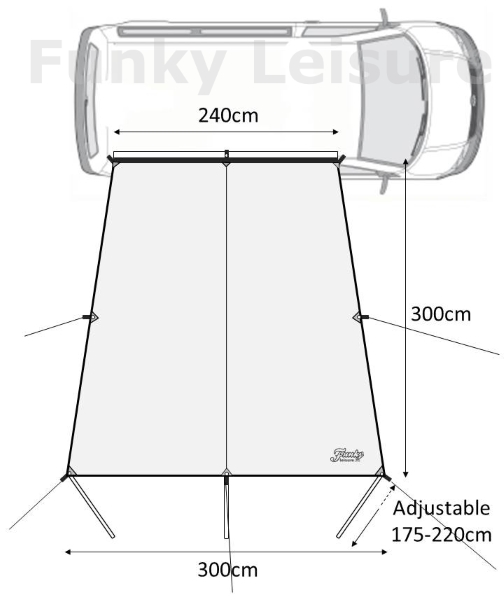 VW Camper Sun Canopy Awning Features