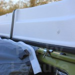 AirBeam Awning connected to a VW T2 Bay with Pole & Clamp Kit