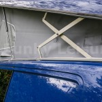 3 x sections of c-channel fitted to side of VW T5 roof gulley