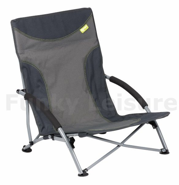 Kampa Sandy Low Level Folding Camp Chair Charcoal