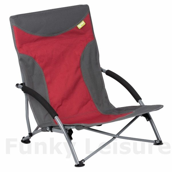 Kampa Sandy Low Level Folding Camp Chair Red