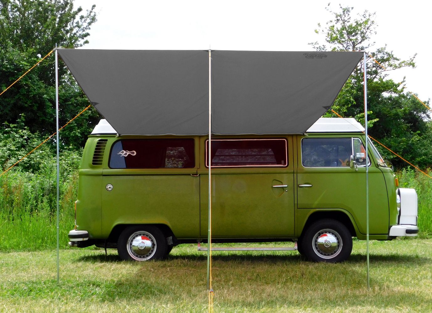 T2 T25 Connection Kit Debus Campervan Sun Canopy Awning Anthracite Grey
