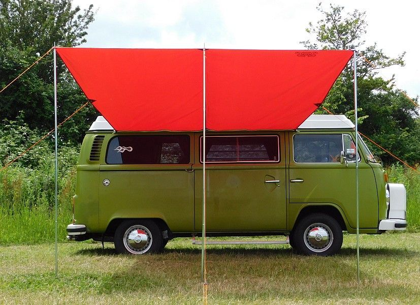 Debus VW T2/T25 Campervan Sun Canopy  Chianti Red