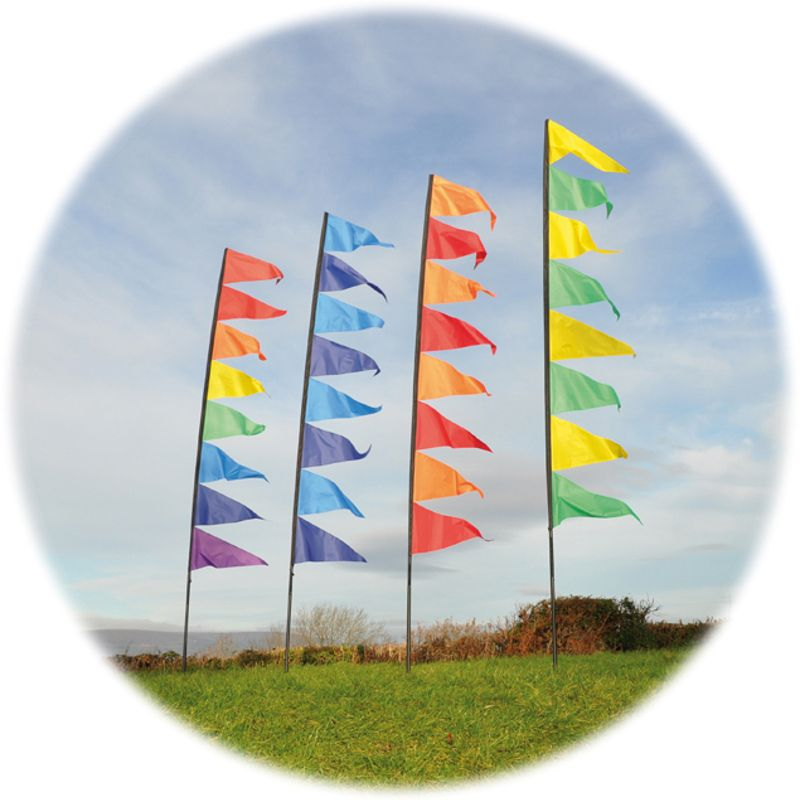 Pendant Banner Flag Kit with Pole