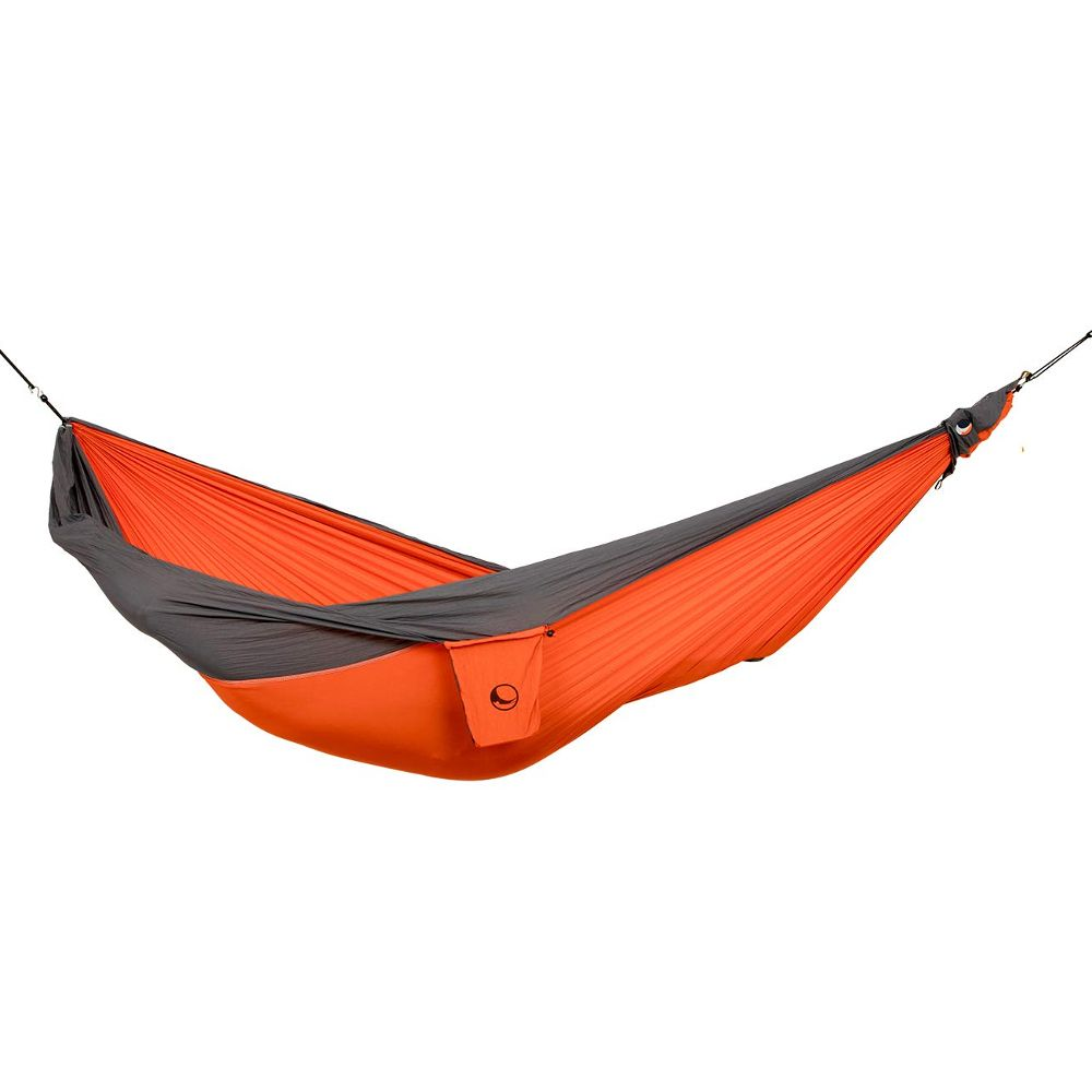 Ticket to the Moon Parachute Hammock - King Size - Orange/Dark Grey