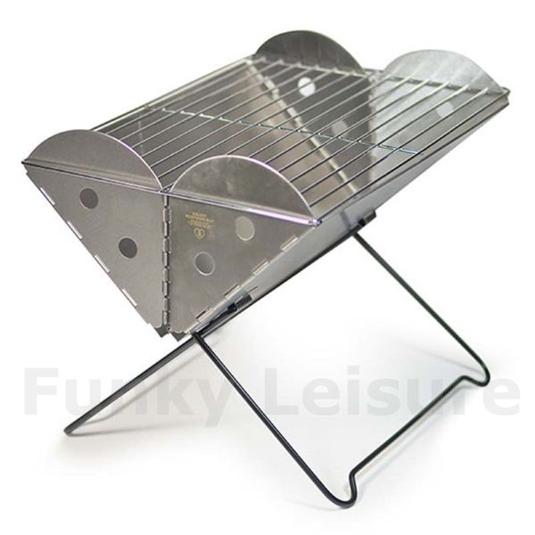 Portable Fire Pit Grill : Uco flatpack portable bbq grill firepit