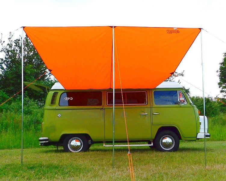 Vw T2 T25 Campervan Sun Canopy Awning Brilliant Orange
