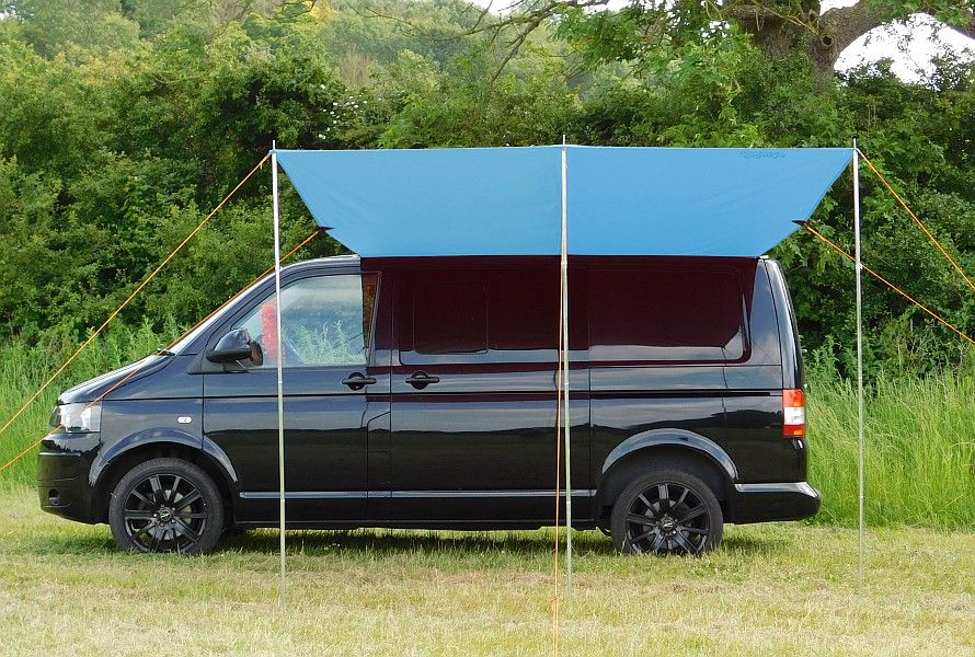 vw t4 t5 t6 transporter sun canopy awning azure blue. Black Bedroom Furniture Sets. Home Design Ideas