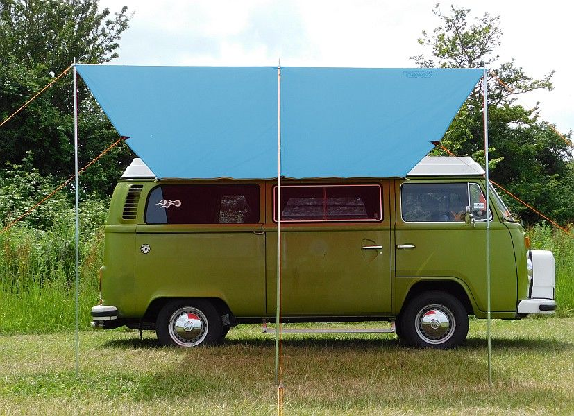 & VW Type 2 T25 Campervan Sun Canopy Awning Azure Blue