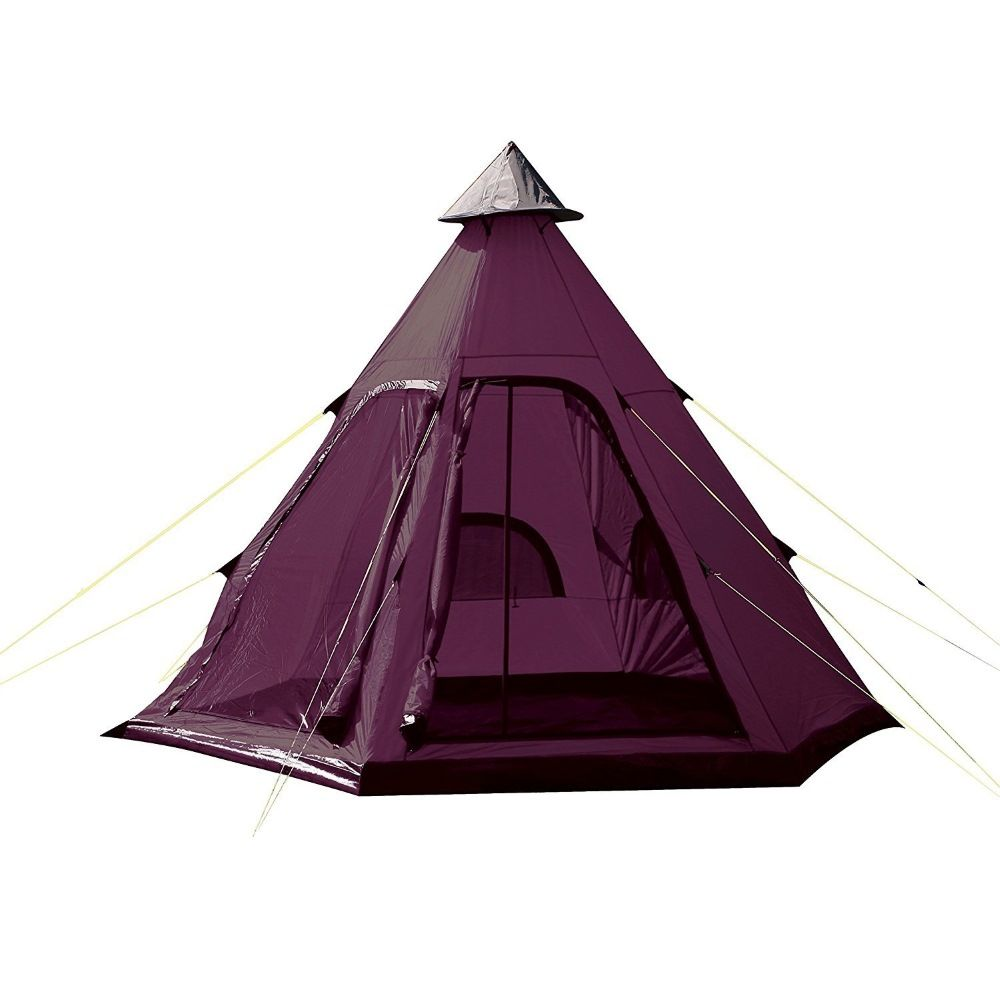 Yellowstone 4 Person Festival Tipi Tent - Plum